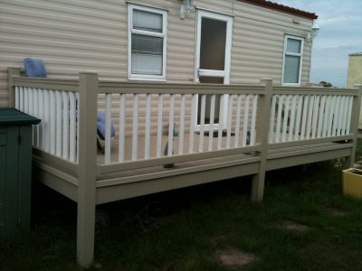 12 x 8 pre-owned caravan decking for sale cheap