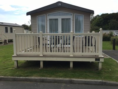 12 x 8 Enclosed Preowned Caravan Decking UK